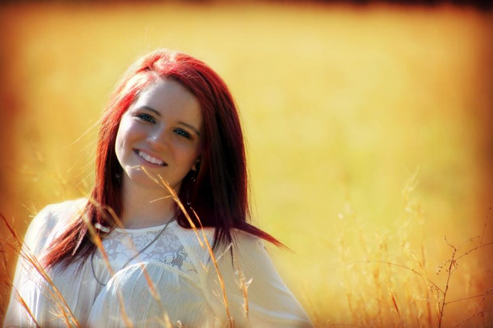Download Free Stock Photo of Red Hair Woman