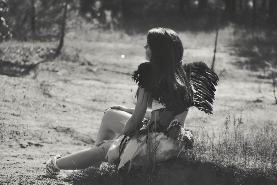 Download Free Stock Photo of Woman in Angel Wings