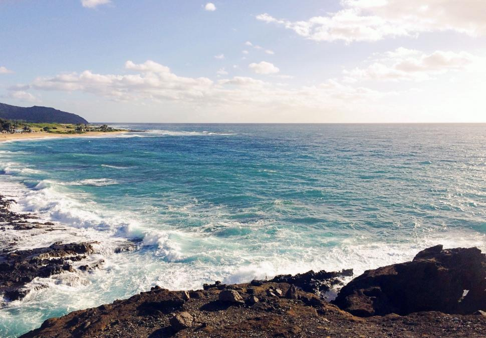 Download Free Stock Photo of Beach and Sky - Hawaii