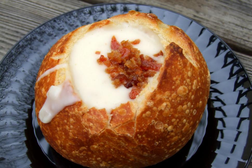 Download Free Stock Photo of Potato Soup Bowl