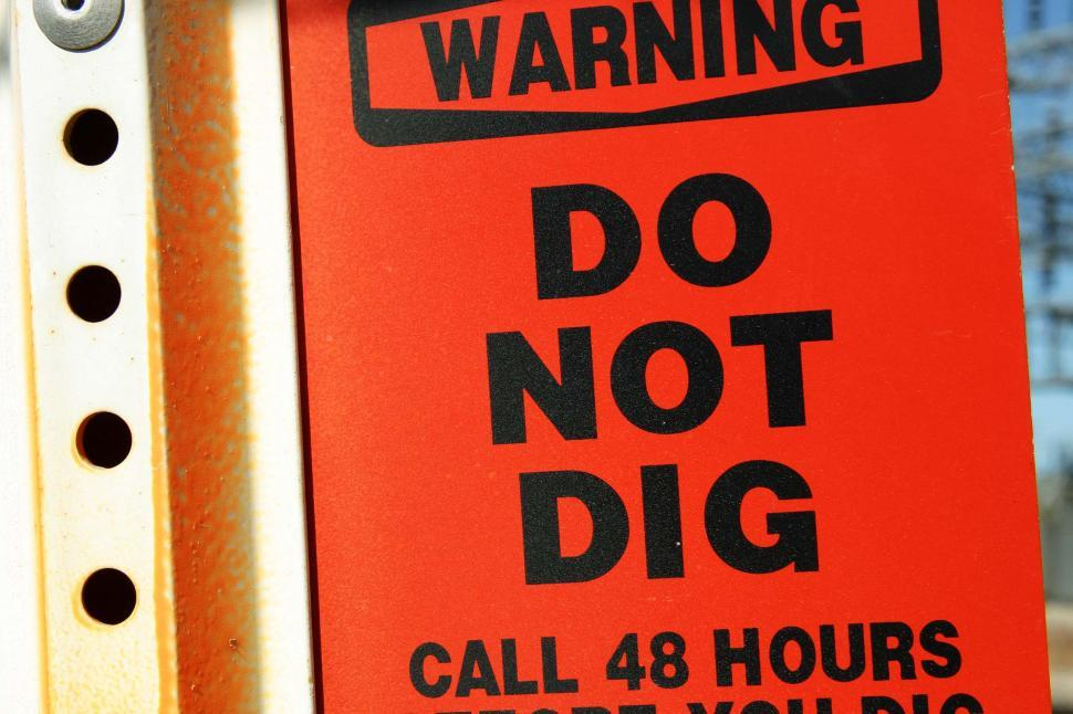 Download Free Stock HD Photo of Do Not Dig Sign Online
