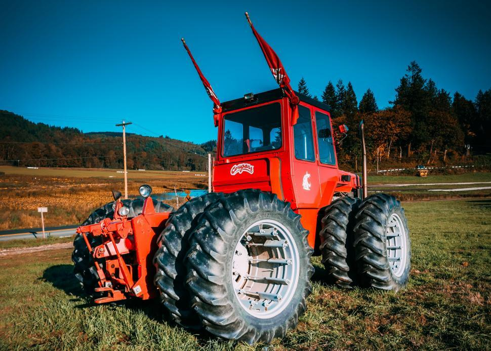 Download Free Stock Photo of Red Tractor