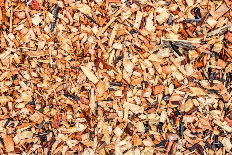 Download Free Stock Photo of Wood chips - Background