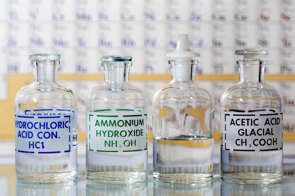 Download Free Stock HD Photo of Reagent Bottles Online