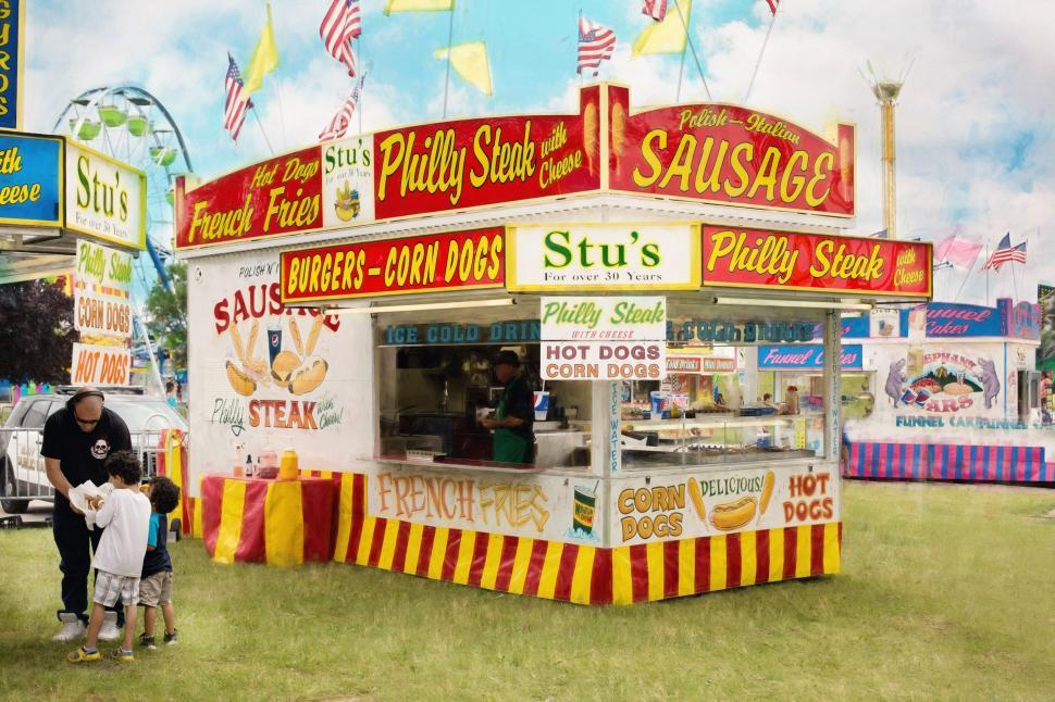 Download Free Stock Photo of Concession stand and green grass