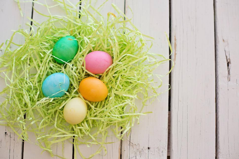 Download Free Stock Photo of Colorful Easter Eggs