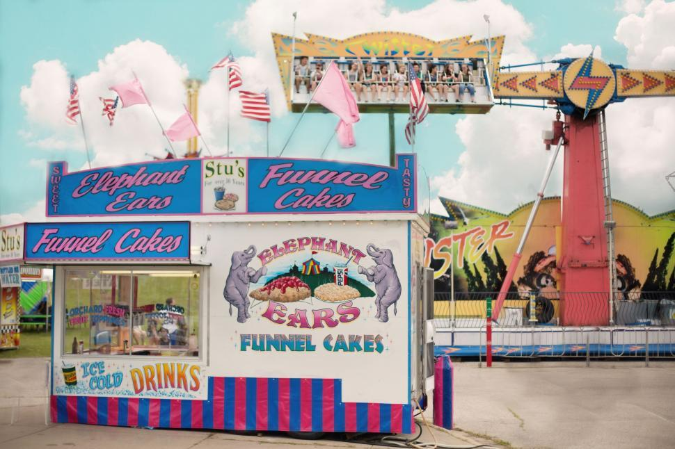 Download Free Stock Photo of Funnel cake stand
