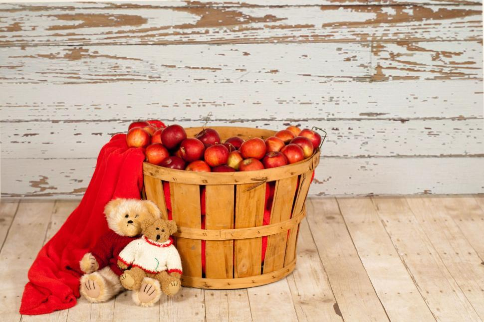Download Free Stock Photo of Red apples in Basket