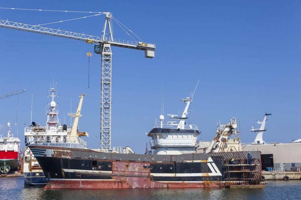 Download Free Stock HD Photo of A ship being repaired Online