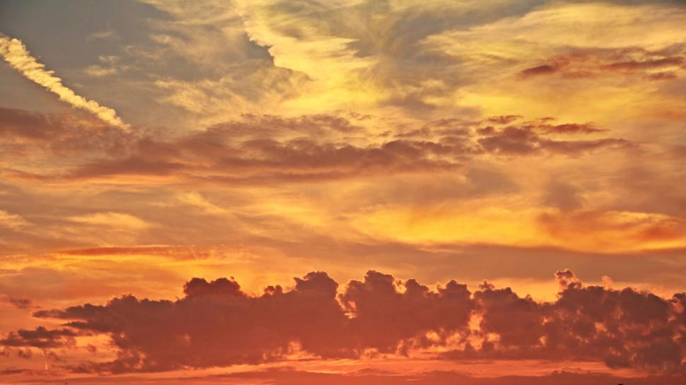 Download Free Stock Photo of Sunset Clouds