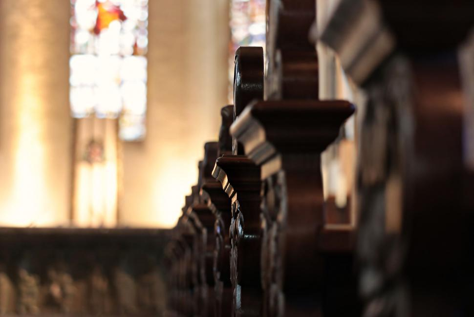 Download Free Stock Photo of Church pews