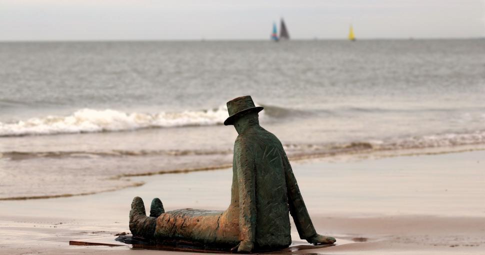 Download Free Stock Photo of Folon sculpture