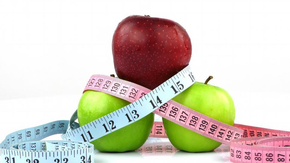 Download Free Stock HD Photo of Healthy Fruit Apple and Measurement Online
