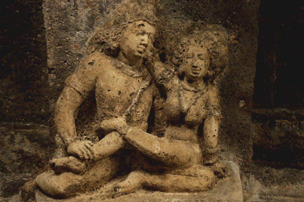 Download Free Stock HD Photo of Ancient Indian Stone Sculpture  Ancient Stone Cave Carving Online