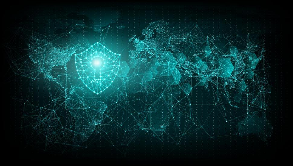 Download Free Stock HD Photo of Cyber Security - Web Security Shield Over World Map  Online