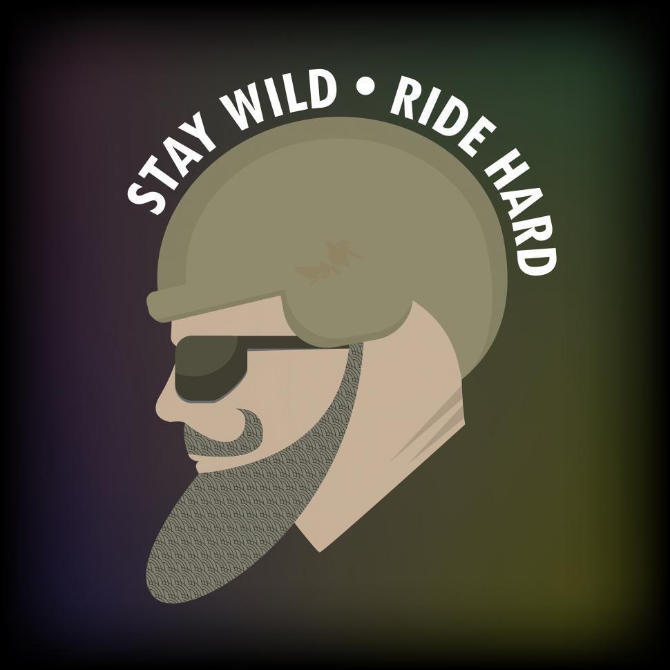 Download Free Stock Photo of Biker's Motto, Biker Quote, Illustration