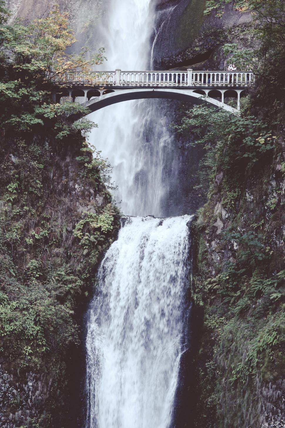 Download Free Stock HD Photo of Bridge over Multnomah Falls, Oregon, USA Online