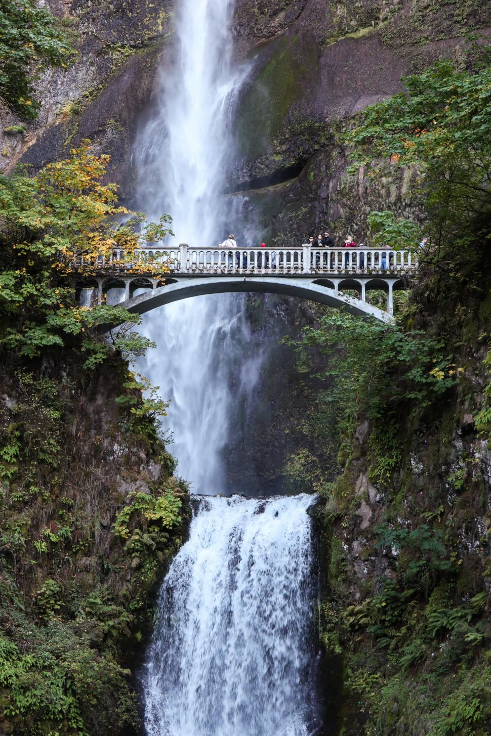 Download Free Stock HD Photo of Bridgeat Multnomah Falls, Pacific Northwest, Oregon, USA Online