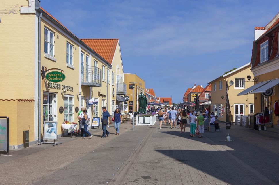 Download Free Stock HD Photo of Shopping district in Skagen Online