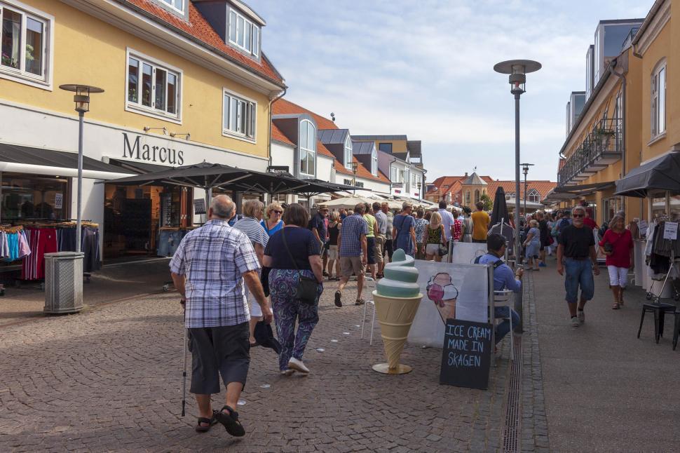 Download Free Stock HD Photo of Skagen main street Online