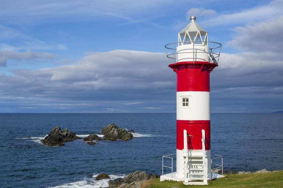 Download Free Stock HD Photo of Lighttower with rocks Online