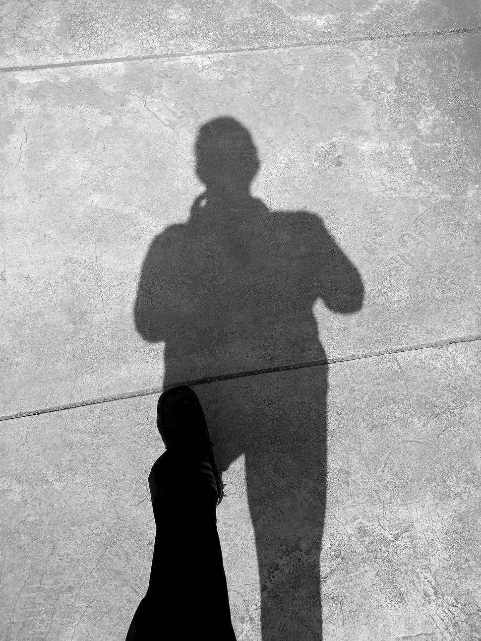Download Free Stock Photo of Shadow of a man