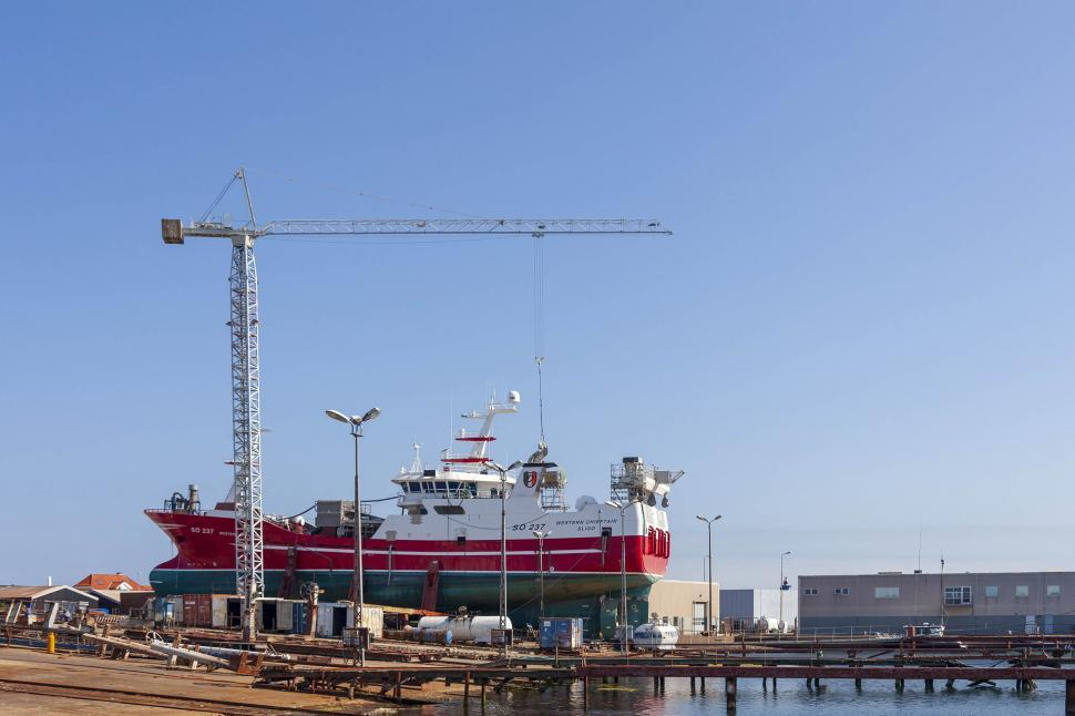 Download Free Stock HD Photo of  Ships being repair at the marina in Skagen Online