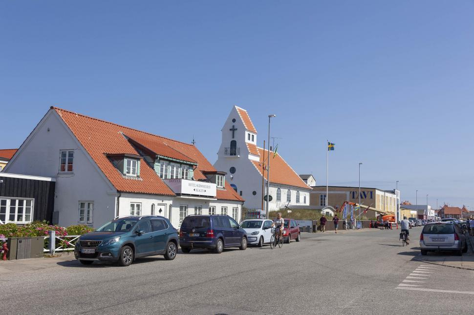 Download Free Stock Photo of Main shopping district in Skagen