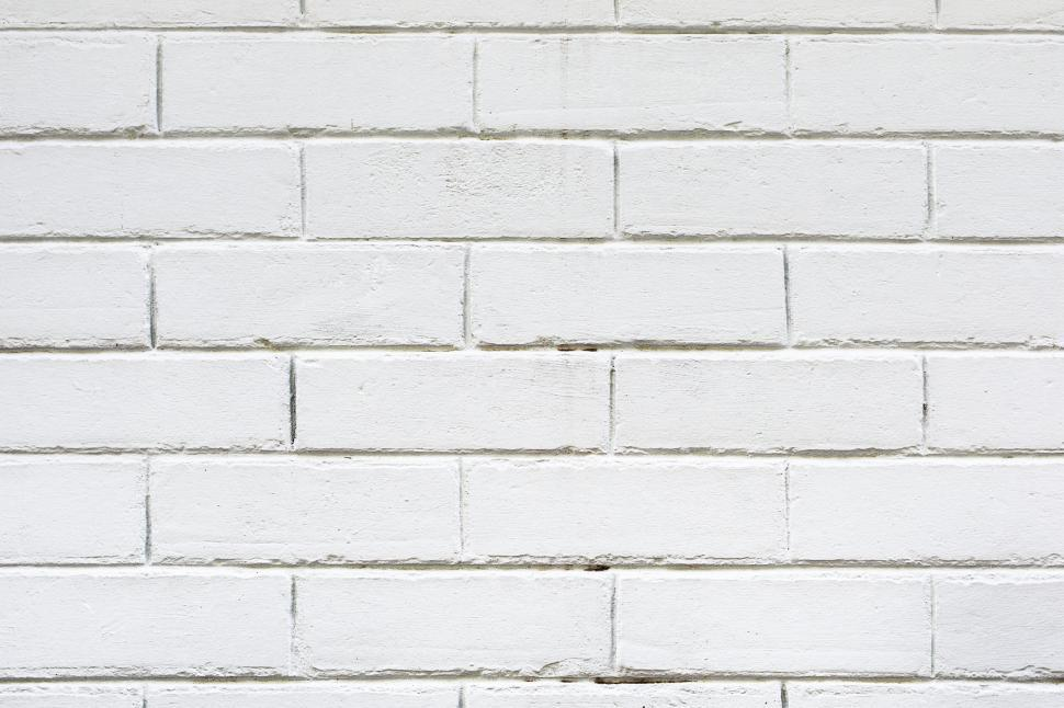 Download Free Stock HD Photo of Close up of a white brick wall Online