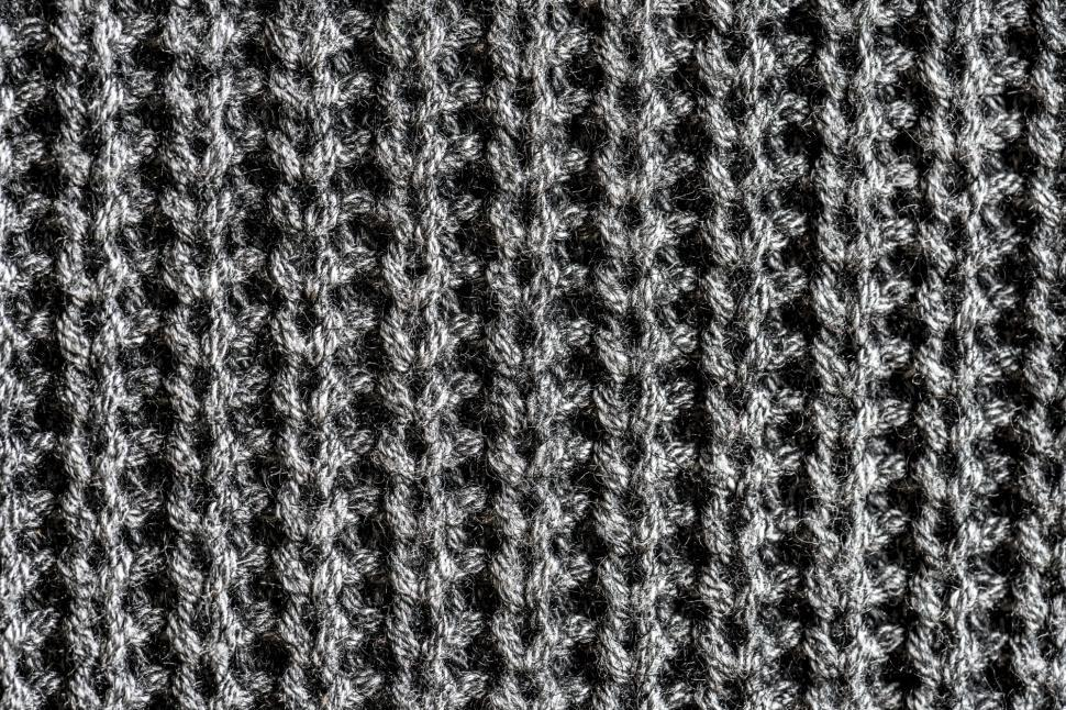 Download Free Stock HD Photo of Close up of knitted wool pattern Online