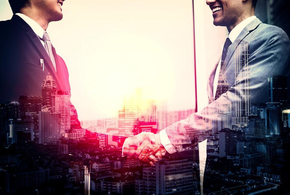 Download Free Stock Photo of Business - Agreement - Businessmen Shaking Hands