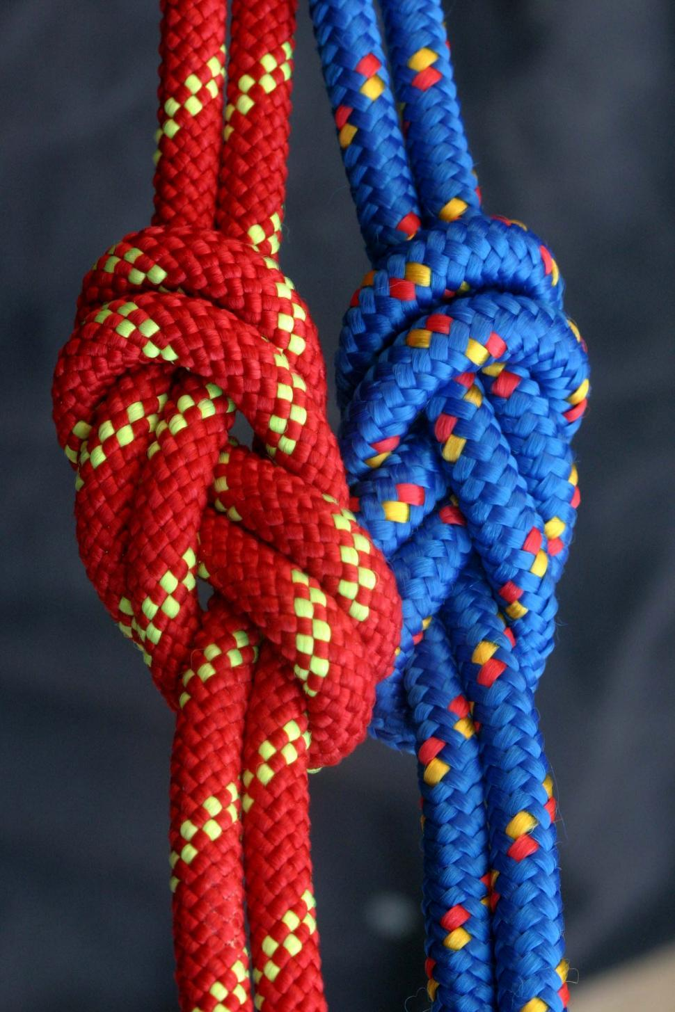 Download Free Stock HD Photo of Side by side figure eight knots Online
