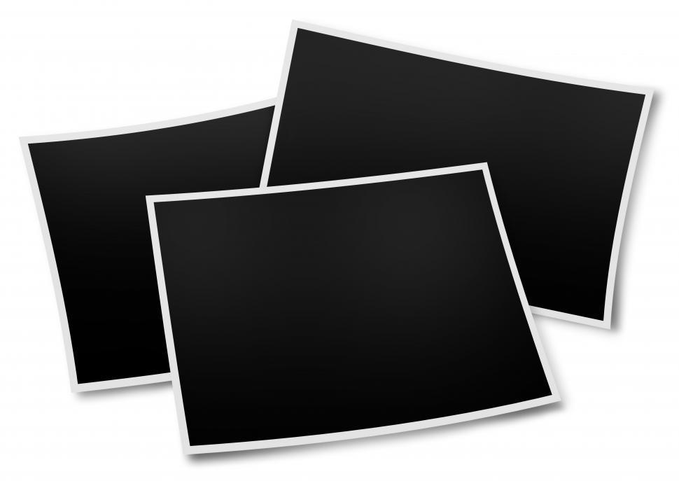 Download Free Stock HD Photo of Three photo frames with shadow illustration Online