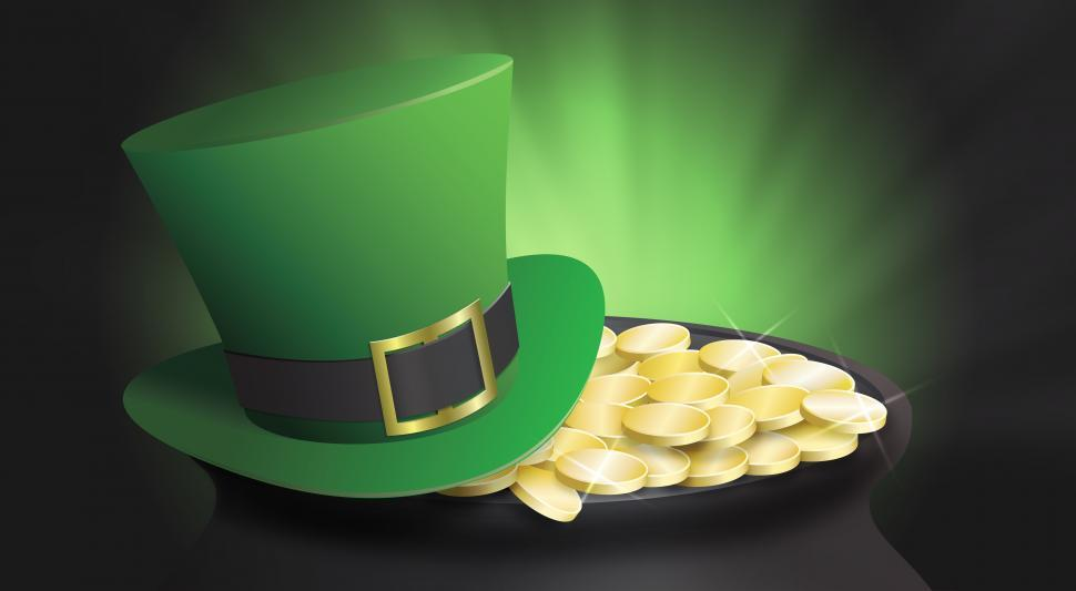 Download Free Stock HD Photo of Saint patricks day pot of gold and hat Online