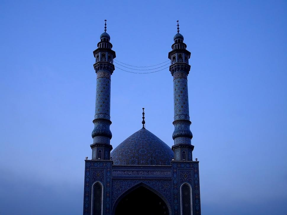Download Free Stock HD Photo of Buildings and Architecture in Qom - Minarets Silhouette Online