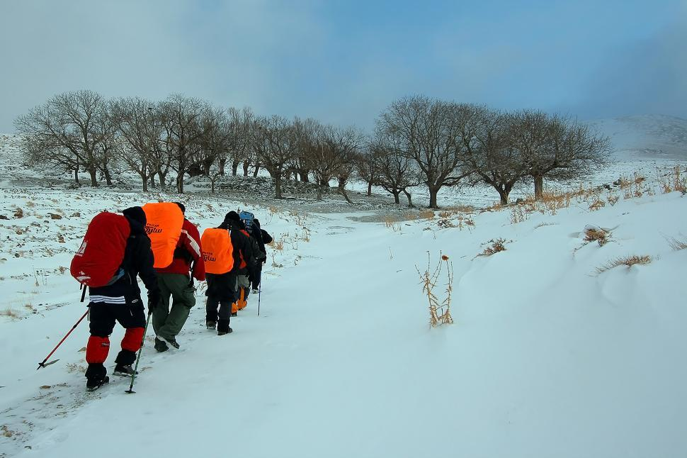 Download Free Stock Photo of Nature of Qom Province - Mountaineering in the Snow