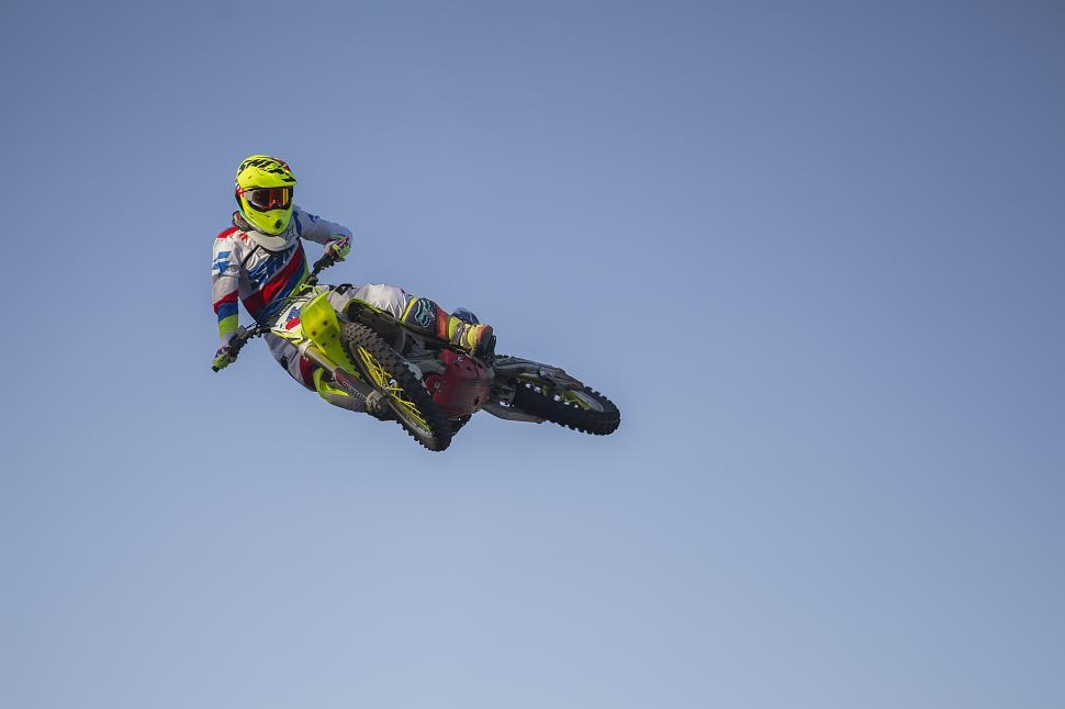 Download Free Stock Photo of Cross engine - Motorcycle Jump