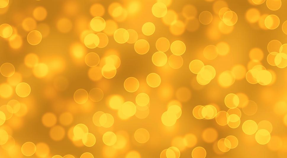 Download Free Stock Photo of Golden Bokeh Background - Gold