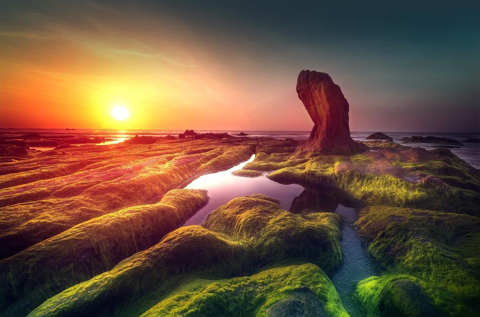 Download Free Stock HD Photo of Rock Pools at Sunrise - Desert Shore - Beach - Dreamy Looks Online
