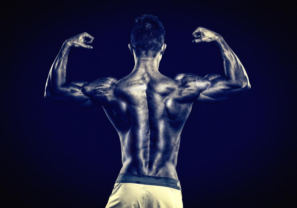 Download Free Stock HD Photo of Muscular Male - Muscular Torso - Monochrome Noisy Looks Online