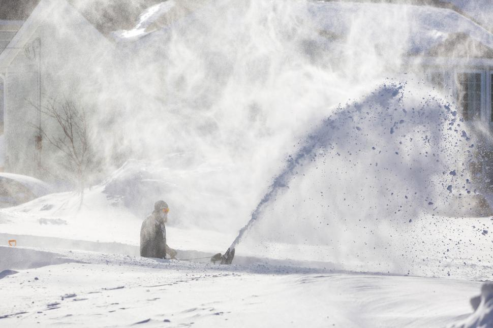 Download Free Stock Photo of Snow clearing