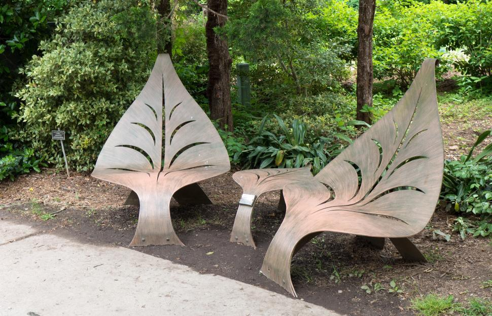 Download Free Stock Photo of Metal Sculpture Seats