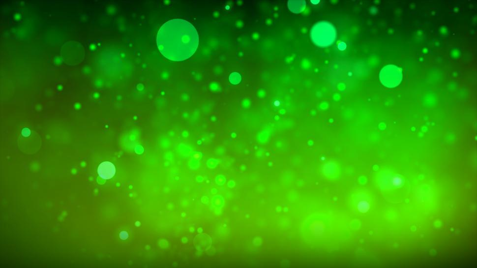 Download Free Stock Photo of Bokeh - Green Background