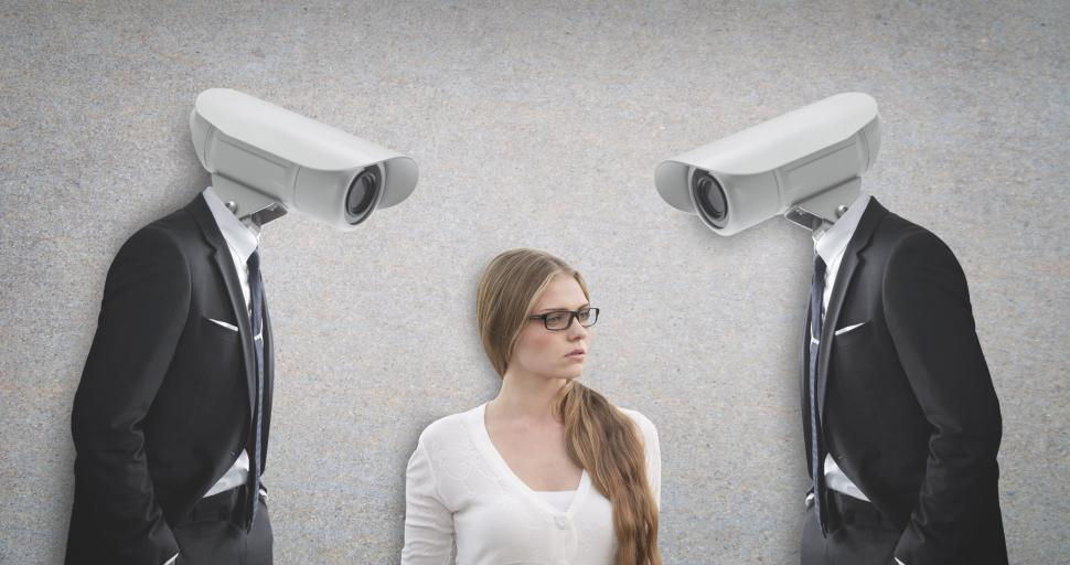 Download Free Stock HD Photo of The End of Privacy - Constant Surveillance - Harassment Online