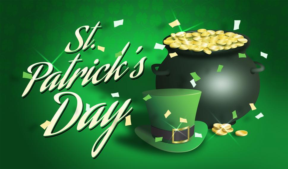 Download Free Stock HD Photo of Saint patrick s day pot of gold and hat illustration Online