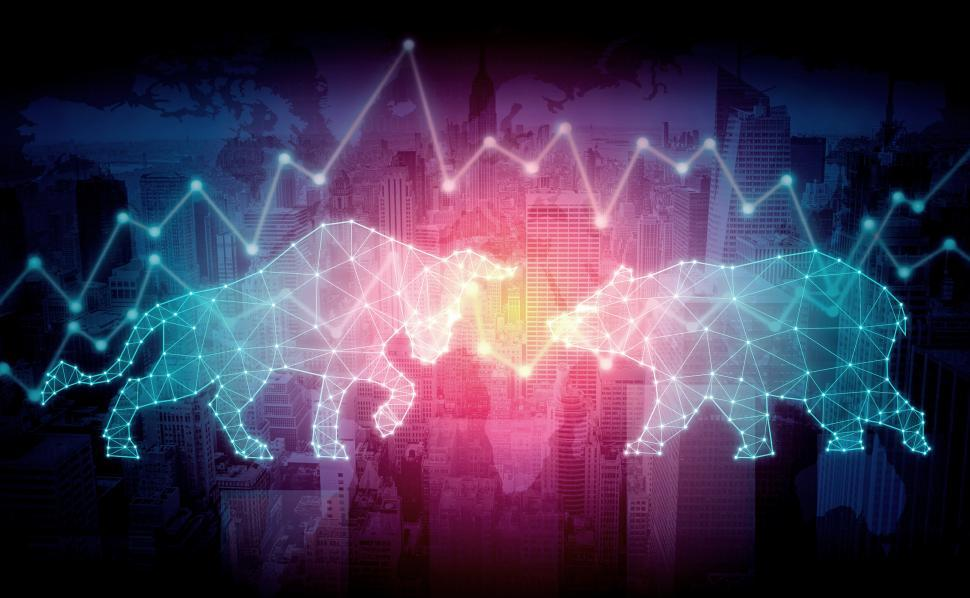 Download Free Stock HD Photo of Bull and Bear - Markets Concept Online