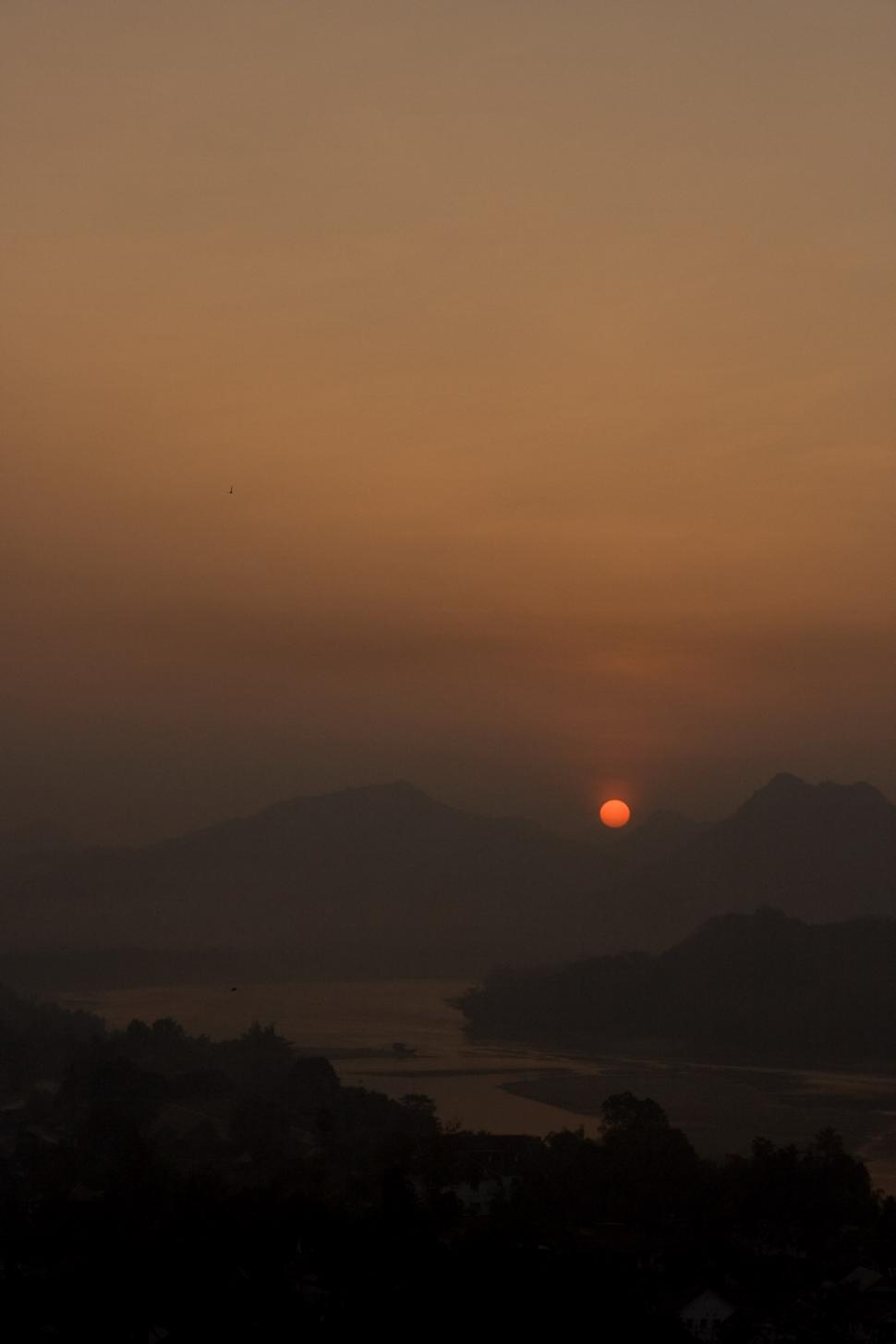 Download Free Stock HD Photo of Sunset in LuangPrabang, Laos Online