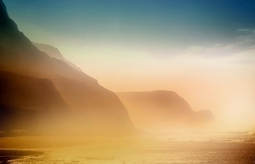 Download Free Stock HD Photo of Foggy Beach and Cliffs - Cordoama Beach - Algarve - Portugal Online