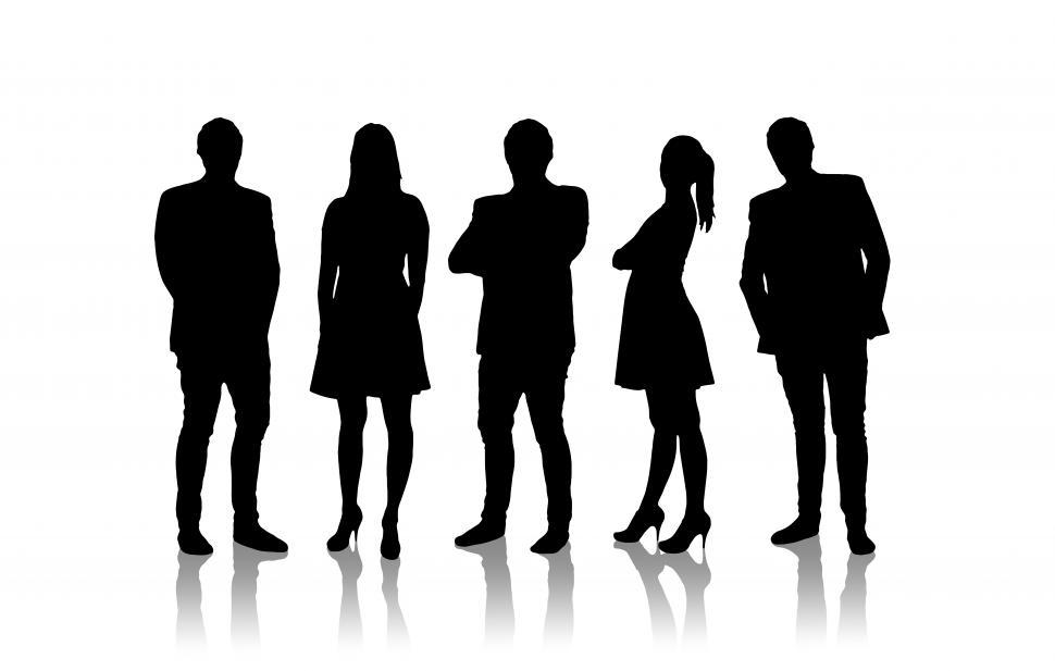 Download Free Stock HD Photo of Silhouettes of business people Online