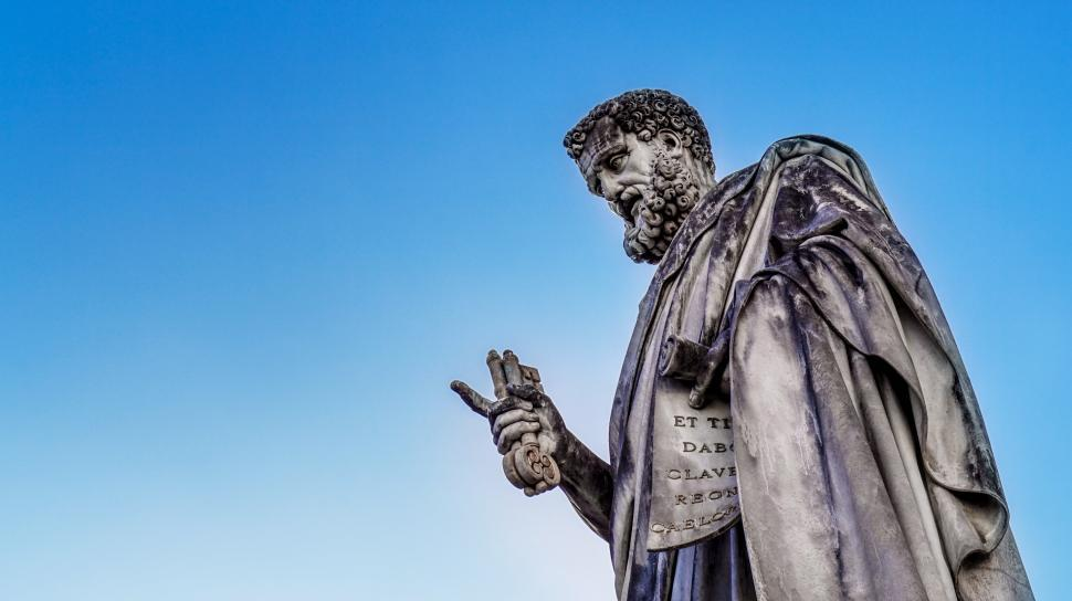 Download Free Stock HD Photo of Statue of St. Peter with Keys to the Kingdom Online